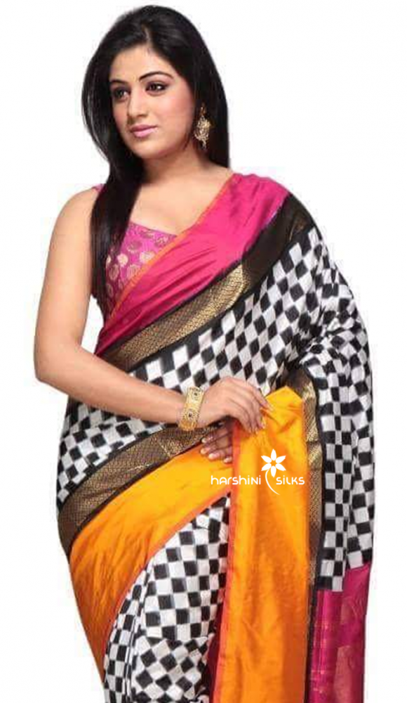 Pure Handloom Ikkat Silk Saree - HSIK 66