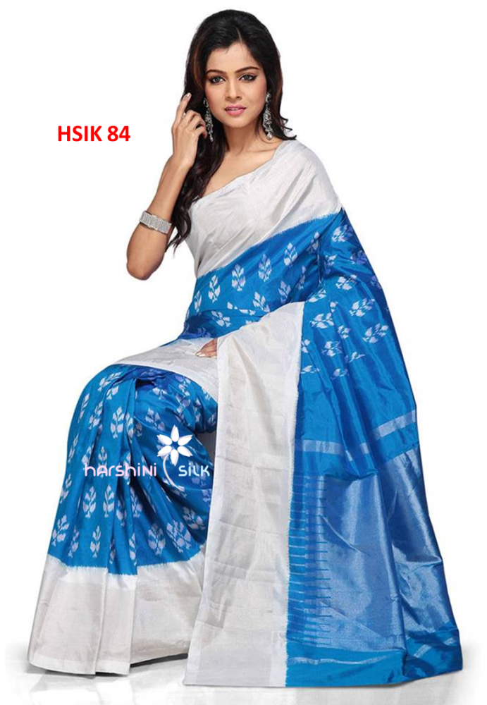 Pure Handloom Ikkat Silk Saree - HSIK 64