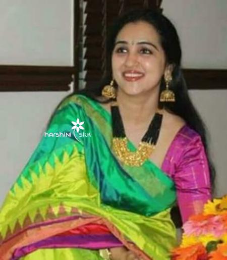 Pure Handloom Ikkat Silk Saree - HSIK 67