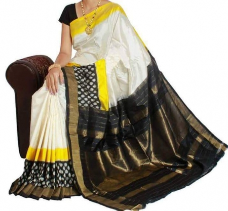 Pure Handloom Ikkat Silk Saree HSIK 59