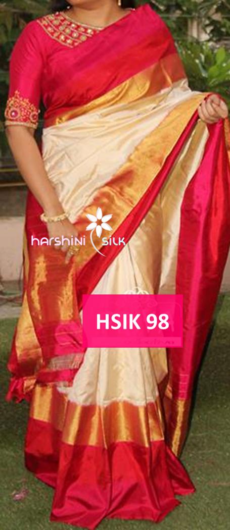 Pure Handloom Ikkat Silk Saree - HSIK 68