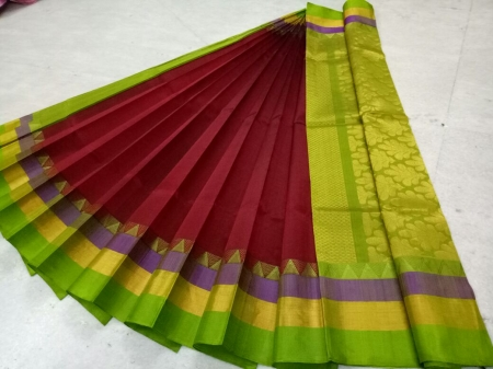 Pure Kanchipuram Silk Cotton Saree - HSC 383