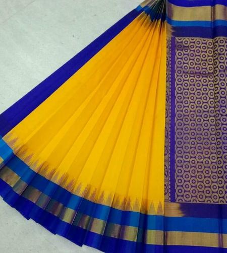 Pure Kanchipuram Silk Cotton Saree - HSC 379