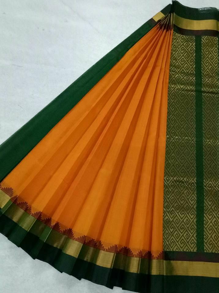 Pure Kanchipuram Silk Cotton Saree - HSC313