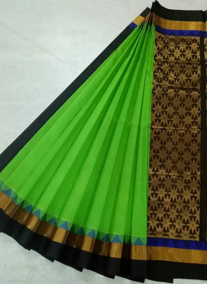 Pure Kanchipuram Silk Cotton Saree - HSC 417