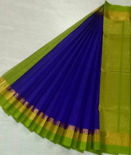 Pure Kanchipuram Silk Cotton Saree -  HSC 418