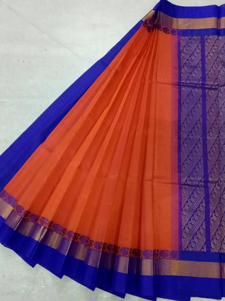Pure Kanchipuram Silk Cotton Saree -  HSC 419