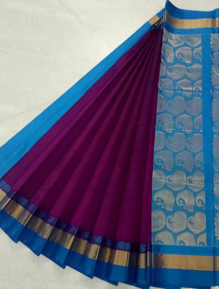 Pure Kanchipuram Silk Cotton Saree -  HSC 420