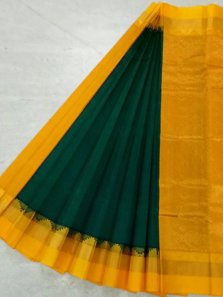Pure Kanchipuram Silk Cotton Saree - HSC 388