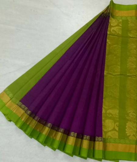 Pure Kanchipuram Silk Cotton Saree -  HSC 422
