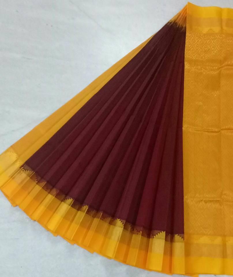 Pure Kanchipuram Silk Cotton Saree -  HSC 423