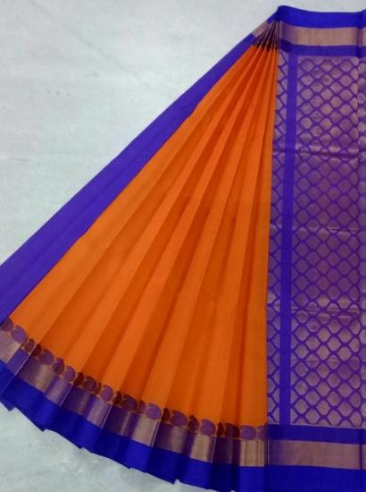Pure Kanchipuram Silk Cotton Saree -  HSC 425