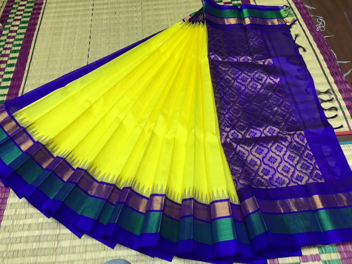 Pure Kanchipuram Silk Cotton Saree -  HSC 428