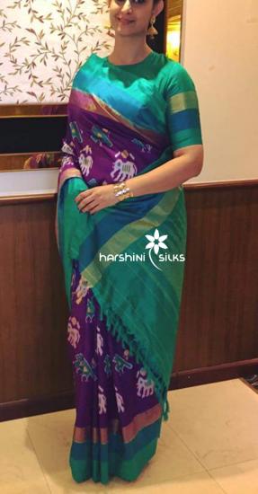 Pure Handloom Ikkat Silk Saree - HSIK75