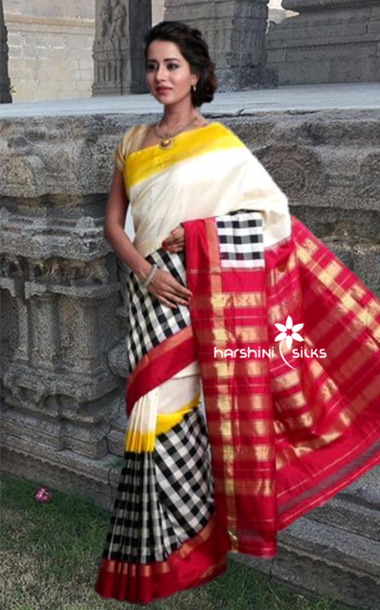 Pure Handloom Ikkat Silk Saree - HSIK 61
