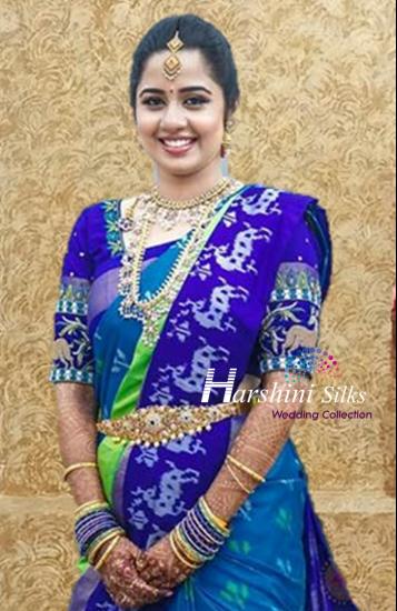Pure Handloom Ikkat Silk Saree - HSIK86