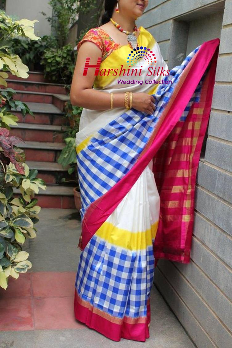 Pure Handloom Ikkat Silk Saree - HSIK79