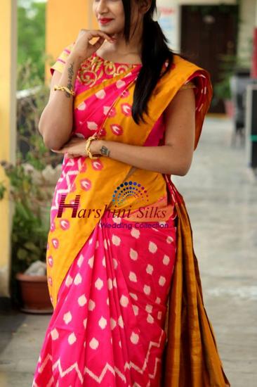 Pure Handloom Ikkat Silk Saree - HSIK78