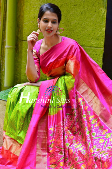 Pure Handloom Ikkat Silk Saree - HSIK77