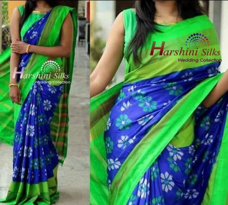 Pure Handloom Ikkat Silk Saree - HSIK74