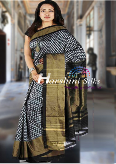 Pure Handloom Ikkat Silk Saree - HSIK73
