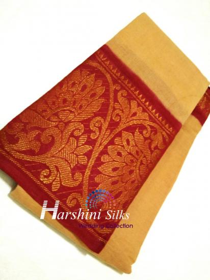 PURE HANDLOOM SUNGADI COTTON SAREE - HSNC03